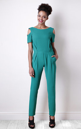 Jade jumpsuit with lace at the back by Liquorish Product photo