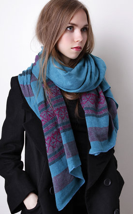 Multi color blue and magenta scarf by Liquorish Product photo