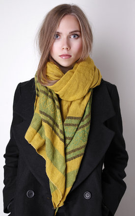 Multi color mustard and green scarf by Liquorish Product photo