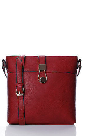 Red square cross body bag by Liquorish Product photo