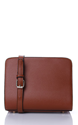 Liquorish plain brown cross body bag by Liquorish Product photo