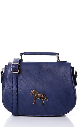 Liquorish navy pony cross body bag by Liquorish Product photo