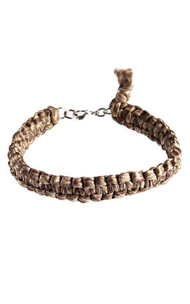 Macramé silk bracelet by MHART Product photo