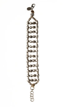 Silver spiked ladder bracelet by MHART Product photo
