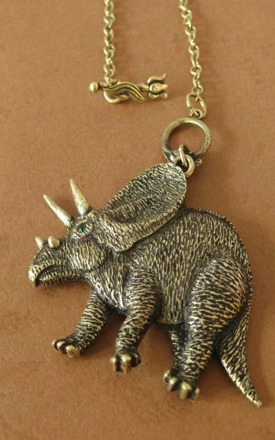 Triceratops gold necklace by Emi Jewellery Product photo