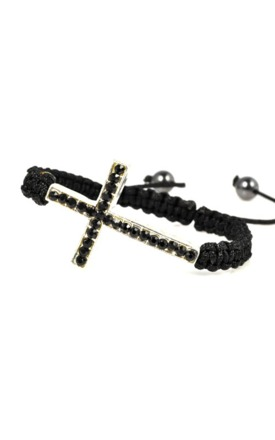 Crystal cord cross wrap bracelet by Emi Jewellery Product photo