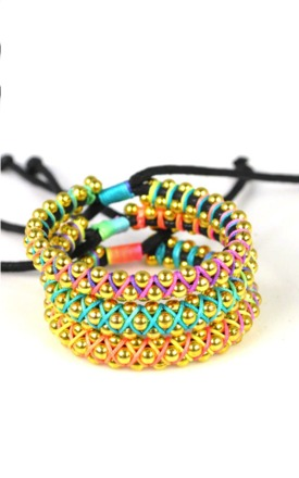 Neon weave bracelet by Emi Jewellery Product photo