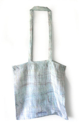Aquarius silk tote bag by Hellen van Rees