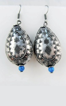 Silver plated bohemian earrings by Emi Jewellery Product photo