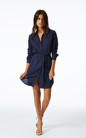 Mini shirt dress in navy by Dancing Leopard Product photo