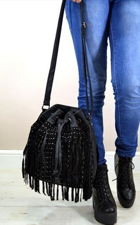 Maya studded tassel duffle bag by NAOMISHU Product photo