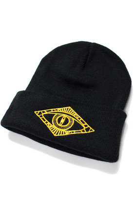 Gold third eye beanie by iamVibes Product photo