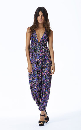 Genie jumpsuit in black floral by Dancing Leopard Product photo