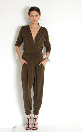 Khaki jodie jumpsuit by Never Fully Dressed Product photo
