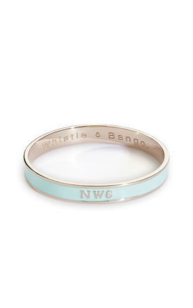 Nw6 postcode bangle by Whistle & Bango. Product photo