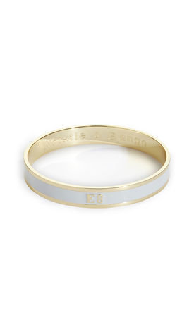 E8 postcode bangle by Whistle & Bango. Product photo