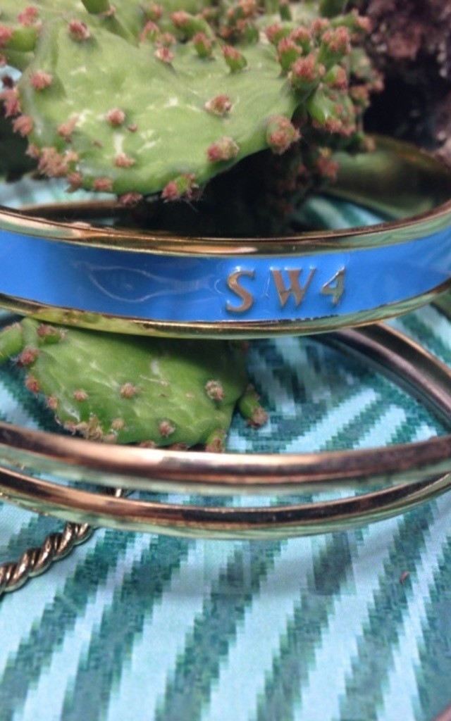 SW4 Postcode Bangle by Florence London