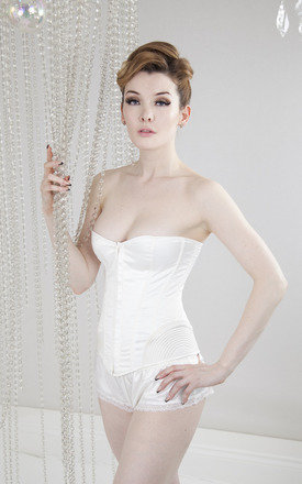 Vintage stitch corset - ivory by Playful Promises Product photo