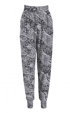 Monochrome printed ali harem pants by Ruby Rocks Product photo