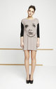 Caffe Black Tunic With Printed Face by EWA ZWOLINSKA