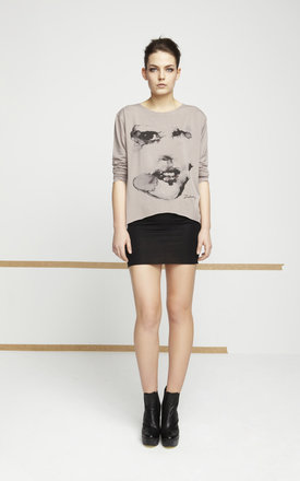 Caffe printed face top by EWA ZWOLINSKA Product photo