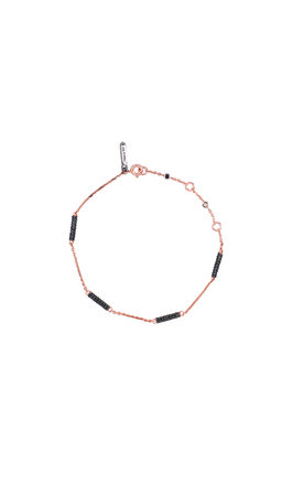 Rose and charcoal sky atlas chain bracelet by TADA & TOY Product photo
