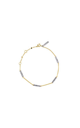 Gold and silver sky atlas chain bracelet by TADA & TOY Product photo