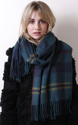 Green tartan scarf by Liquorish Product photo