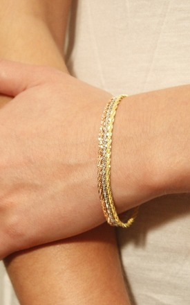 Gold spiny lizard chain bracelet by TADA & TOY Product photo