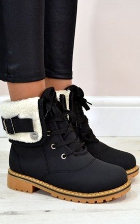 Gina flat lace up ankle boots by NAOMISHU Product photo