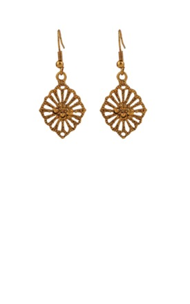 Vintage style gold plate earrings by Emi Jewellery Product photo