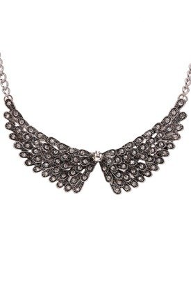 Silver wing collar necklace by Ruby Rocks Jewellery Product photo
