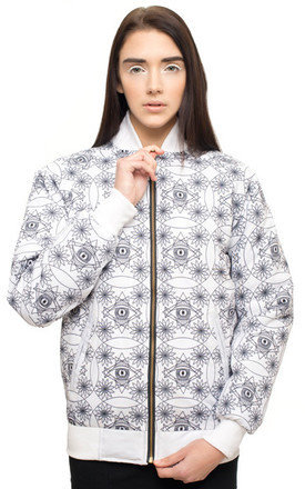 White light worker track jacket by iamVibes Product photo