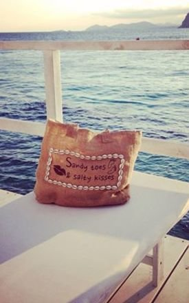 Sandy toes & salty kisses beach bag by House of Dharma Product photo