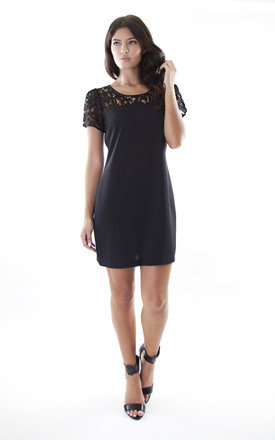 Lace top dress black by Wolf & Whistle Product photo