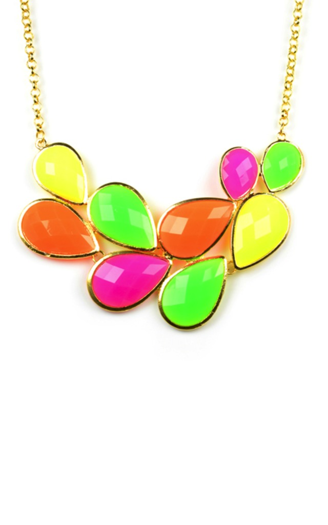 Bright Gem Stone Colour Necklace by Emi Jewellery