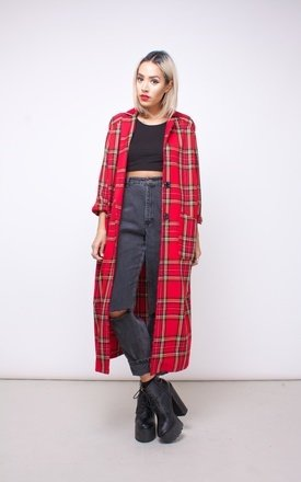 Tartan duster coat by House of Jam Product photo