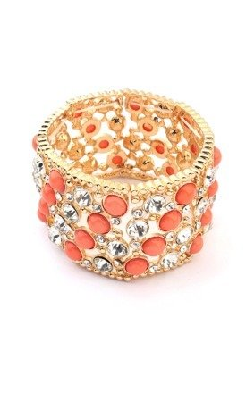 Vintage peach cuff by Ruby Rocks Jewellery Product photo