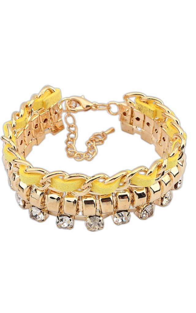 Yellow Gem Drop Bracelet by Ruby Rocks Accessories