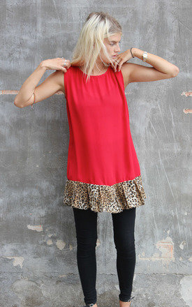 Leopard frill top by Never Fully Dressed Product photo