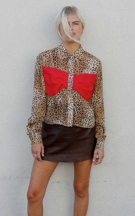 Bow blouse leopard by Never Fully Dressed Product photo