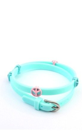 Peace plastic wrap cuff by Ruby Rocks Jewellery Product photo