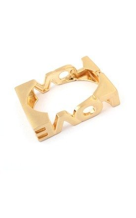 Vintage love gold cuff by Ruby Rocks Jewellery Product photo