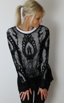 Black lace top by Scarlett Black London Product photo