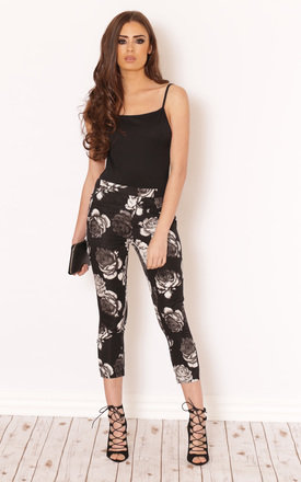 Adelina floral cigarette trousers by LullaBellz Product photo