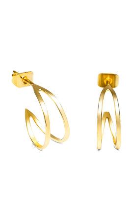 Double loop earrings by Maria Pascual Product photo