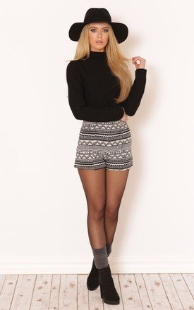 Maris aztec high waisted shorts by Dolly Rocka Product photo