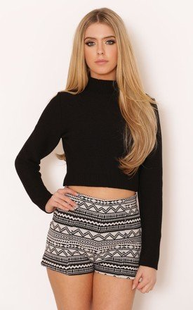 Delina ribbed crop jumper by Dolly Rocka Product photo
