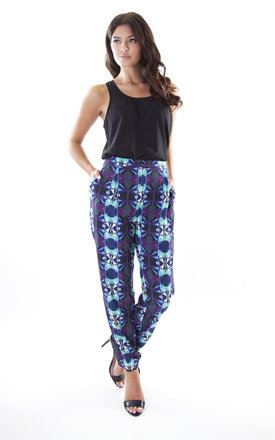 Geo-print loose trousers by Wolf & Whistle Product photo
