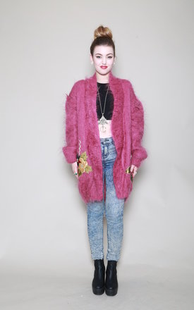 Pink mohair cardy by Silver Birch Product photo